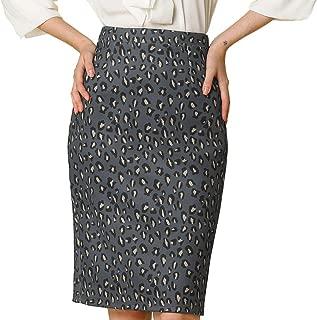 high waisted leopard pencil skirt