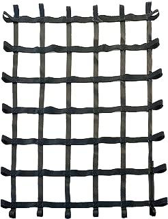 FONG 6 ft X 5 ft Climbing Cargo Net Black - Swing Set Accessories - Indoor Climbing net - Outdoor Playground Swing, Belt Swing, Playground Hanging Step Ladder (Black)