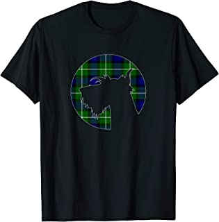 Scottish Terrier Scottie Dog Clan Lamont Tartan T-Shirt