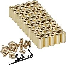 EuTengHao 60 Pieces Pin Locks Pin Backs Locking Pin Backs Pin Keepers Locking Clasp, Locking Pin Backs Keepers(9mmx5.5mm,Gold)