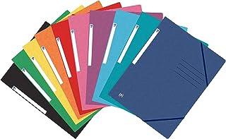 Oxford Lot de 25 chemises A4 en carton à reliure d'angle 10 couleurs assorties