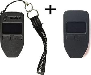 Trezorハードウェア財布(ブラック) +ボーナスprotectingcoinケース/スキンブラック