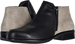 Soft Black Leather/Speckled Beige Leather