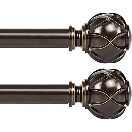 "NEW 7 pc ANTIQUE DRAPERY 1/"" Wrought Iron POLE Rings RIBON7 Black Fits 3//4/"" pole"
