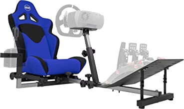 Best OpenWheeler GEN3 Racing Wheel Stand Cockpit Blue on Black | Fits All Logitech G923 | G29 | G920 | Thrustmaster | Fanatec Wheels | Compatible with Xbox One, PS4, PC Platforms Review