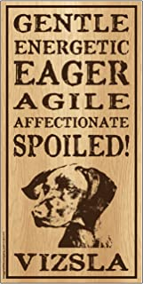 "Imagine This Vizsla""Spoiled!"" Wood Sign"