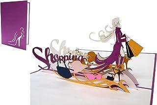 POP UP 3D Karte Grußkarten Shopping Gutschein, Einkaufsguts