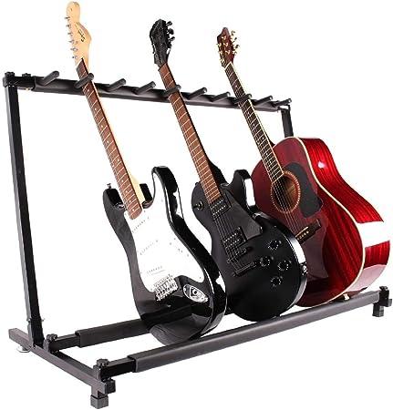 BAOJIADA ギタースタンド 9本収納【新バージョン登場】折りたたみ式 ギター・ベース用スタンド 収納 ベーススタンド 省スペース 組み立て BA-YPJ-06 (9本収納)