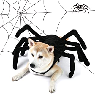 PAWZ Road Dog Spider Costume Halloween Pet Costumes with Furry Spider Legs from Small to Large Size