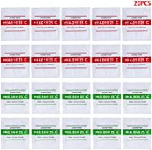Yyooo 20 unidades de pH buffer solución en polvo PH para pruebas medidor medición calibración 4.01 6.86
