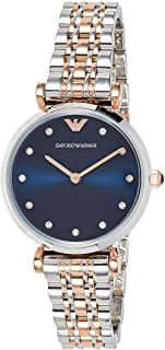 Emporio Armani Women's Dress Quartz Watch with Stainless-Steel Strap, Silver, 14 (Model: AR11092)
