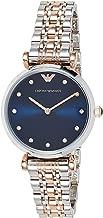 Emporio Armani Women's Dress Quartz Watch with Stainless-Steel Strap, Silver, 14 (Model: AR11092)