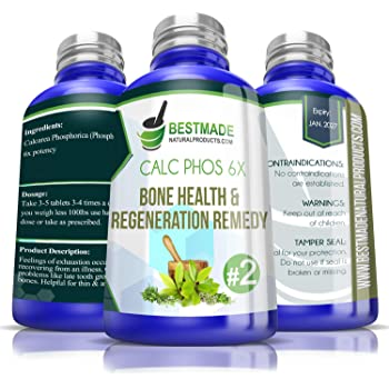 Calc Phos 6X Bone Health & Regeneration - Cell Salt Remedy - Use for Growth Problems & Broken Bones - Aids in Recovery from Disease & Infection - Helps with Calcium Deficiency & Feelings of Coldness