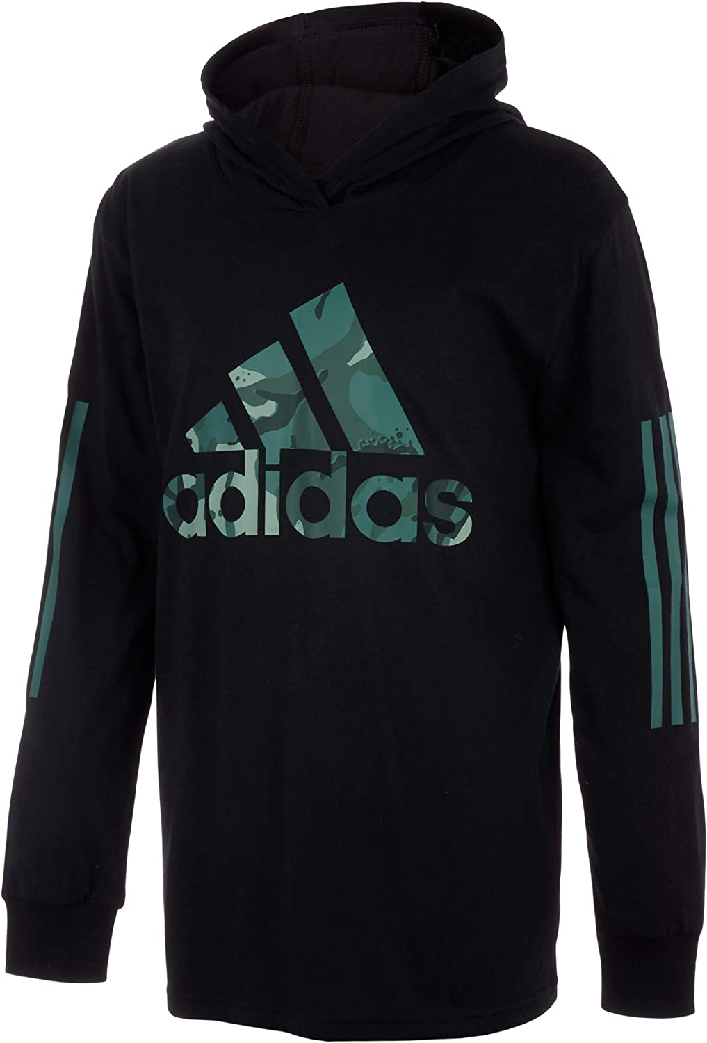 adidas Boys' Long Sleeve Cotton Jersey Hooded Max 48% OFF Daily bargain sale T-Shirt Tee