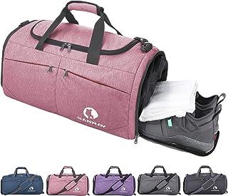 CANWAY Faltbare Sporttasche Faltbare Reisetasche mit dem schmutzigen Fach und Schuhfach Leichtgewicht 45L für Männer und Frauen