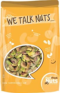 CALIFORNIA PISTACHIOS KERNELS - WITH PINK HIMALAYAN SALT - Oven Roasted in Small Batches - (SHELLED) BRAND NEW PRODUCT!!! 1 LB