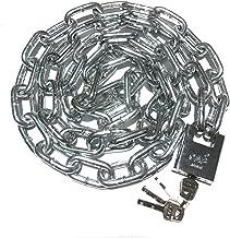 WXYZ Keyed Padlocks Bold stalen kettingslot, veiligheid Anti-diefstal slot voor fiets en motorfiets hek, 0,5 m, 0.8m, 1m, ...