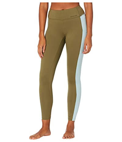 Burton Midweight X Base Layer Pants (Martini Olive/Ether Blue) Women