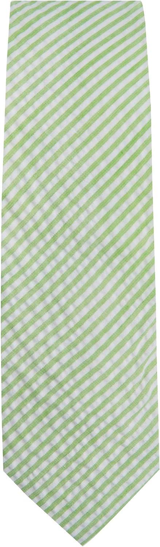 Jacob Alexander Men's Seersucker Striped Pattern Slim Neck Tie