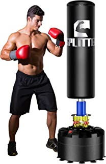 Xsport Pro Adult & Kids Freestanding Punching Bag Heavy Boxing Bag with Durable Suction Base - Free Stand Kickboxing Bags Kick Punch Bags