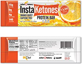 Sponsored Ad - Julian Bakery InstaKetones Protein Bar | Orange Burst | Caffeine-Free | 11.7g GoBHB Per Protein Bar | Exoge...