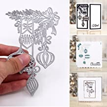 Bluelans Metal Cutting Dies Embossing Stencil Template for DIY Scrapbook Album Paper Card Craft Decoration (Xmas Ball Cutting Dies)