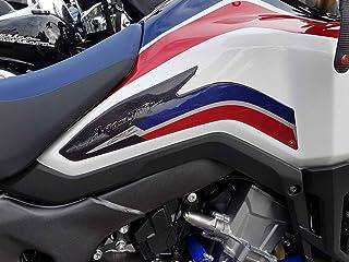 2 Stickers 3D Metall SEITENSCHUTZ für MOTORRÄDER kompatibel mit Honda Africa Twin 2016
