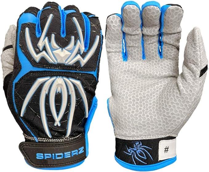 Spiderz Adult Hybrid Batting Glove Silicone Web Palm