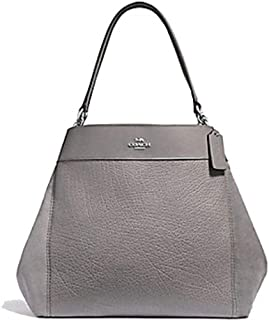 Coach Women's Large Lexy Pebble Leather and Suede Shoulder Bag, F31415