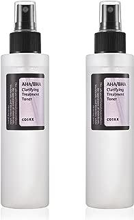 COSRX AHA/BHA Clarifying Treatment Toner 150ml 2 Pack - Skin Rejuvenation, Daily Exfoliation, Skin Brightening, Whiteheads & Blackheads Prevention