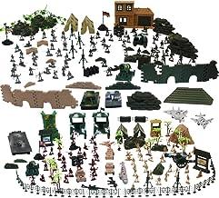 deAO 303 Teiliges Militärspielset, mit Spielsoldaten, Militärischen Figuren, Panzern, Flugzeuge, Flaggen, Aufbewahrungstas...