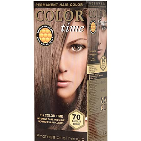 Tinte Permanente para el Cabello de Color Rubio Cenizo Oscuro 70