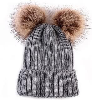 baby grey pom pom hat