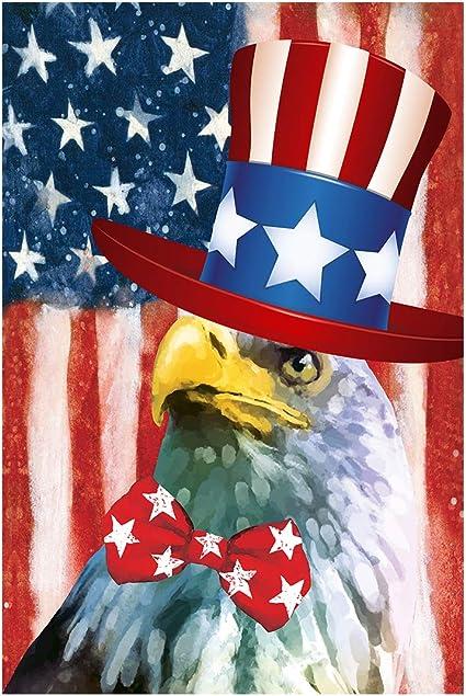 Amazon Com Morigins Freedom Patriotic House Flag American Eagle Usa Porch Flag 28x40 Inch Garden Outdoor