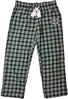 Seahawks Womens Seattle Football Plaid Print Flannel Sleep Pant Pajama Bottoms