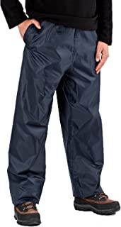 Pro Climate Mens Waterproof Over Trousers Pac in Bag Storm Proof rain Over Trouser