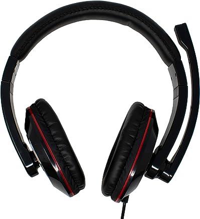 iChoose - Cuffie digitali USB con asta microfono rotante per uso ludico, regolabile, confortevole, con cuscinetti copri orecchie grandi e controllo del volume - Trova i prezzi più bassi