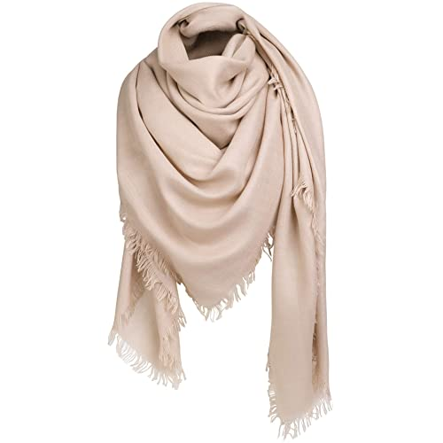 456011eb1fd8a Alleza Women's Scarf Long Large Shawl Wrap Stole Square Muffler Soft Solid  Colour 140 * 140