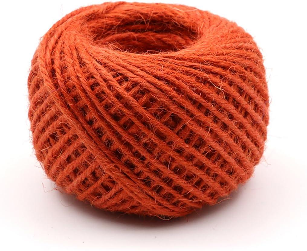 Orange Jute Twine - 54 Ranking TOP3 Natur 2mm Yards New life Eco-Friendly Diameter