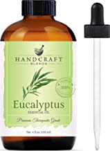 Handcraft Eucalyptus Essential Oil - 100% Pure and Natural - Premium Therapeutic Grade with Premium Glass Dropper - Huge 4...