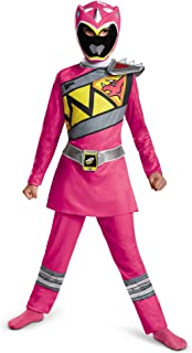 Power Rangers Costume For Girls Pink Dino Charge Kids Beast Morphers Ninja Dinosaur Pink Ranger For Kids Small 4-6x