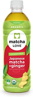Matcha Love Organic Matcha and Green Tea, Ginger, 15.9 Ounce (Pack of 12), USDA Certified Organic, Unsweetened, Zero Calories, Antioxidant Rich, No Artificial Preservatives