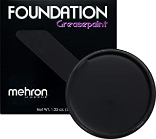 Mehron Makeup Foundation Greasepaint (1.25 ounce) (Black)