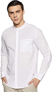 ABOF Men's Solid Slim Fit Casual Shirt