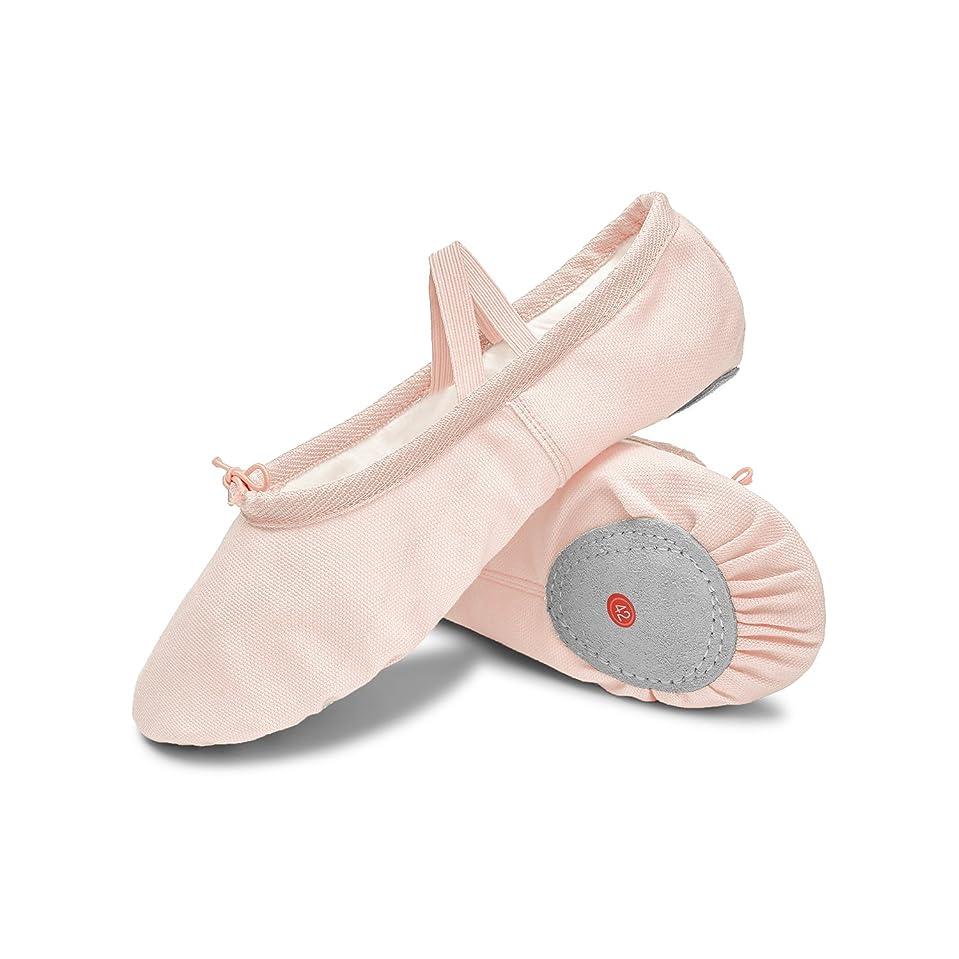 衝動定刻正規化[L-RUNJP] バレエシューズ バレエ靴 キャンバス製 ダンスシューズ 布製 シューズ バレエ ダンス用品 チアリーディング 伸びやすい