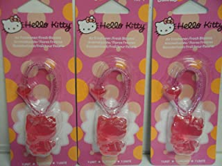 Hello Kitty Hanging Car or Home Air Freshener/Deodorizer, Fresh Blooms Scent (3 Pack) (Fresh Blooms 3 Pack)