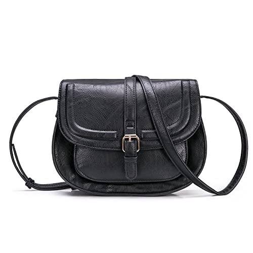 Women Crossbody Satchel Bag Small Saddle Purse and Tote Shoulder Handbags 1529e94a21db3