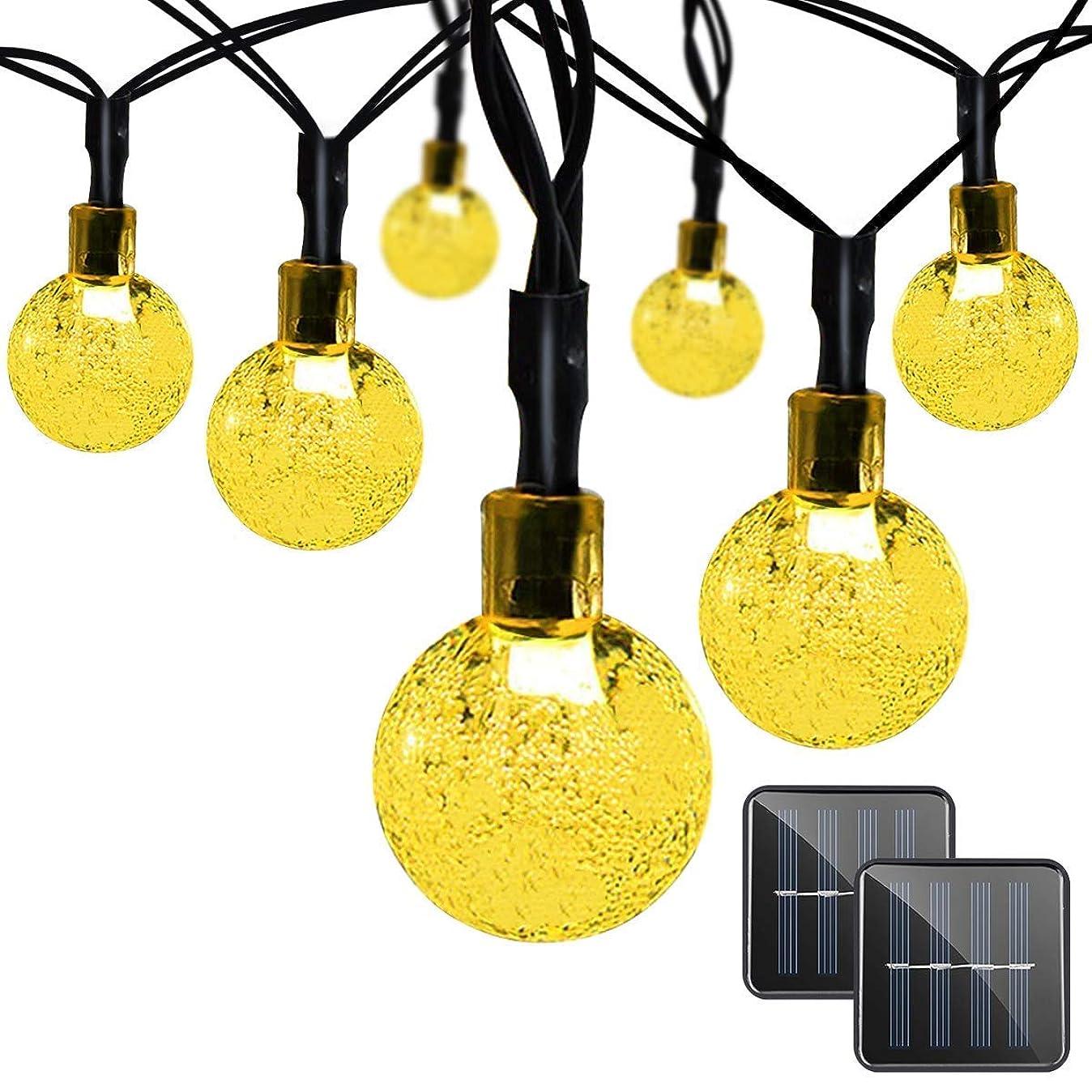 アルファベット順アルカトラズ島あえてPowMaxイルミネーションライト ソーラー装飾ライト30LED 全長6.5m 夜間自動点灯 屋外 防水 耐熱 クリスマス 新年 結婚式 ボール型