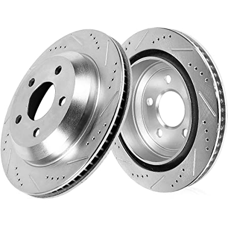 Stirling Rear Disc Brake Rotors and Ceramic Brake Pads For 2013 Mercedes-Benz C300 4Matic 3.5 Liter V6 Two Years Warranty
