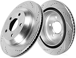Callahan CDS03999 REAR 330mm Drilled & Slotted 5 Lug [2] Rotors [ for Audi A6 A7 A8 Q5 S4 S5 SQ5 ]